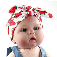 Summer Fruit Print Headband