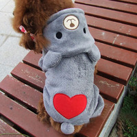 New Warm Fleece Pet Coat Winter Dog Clothes Cute Puppy Bear Costume Hoodie Jumpsuit Clothing for Small Dogs Teddy Apparel 14