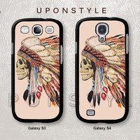 Samsung Galaxy S4 case, Galaxy S3 case, Death Skeleton Head, Skull, Phone Cases, Phone Covers, Skins, Case for Samsung, Case No-60