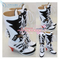 Batman Suicide Squad Harley Quinn Cosplay Shoes Boots Professional Handmade ! Perfect Custom For You !