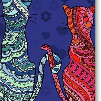 Cat Lovers - Greeting Card