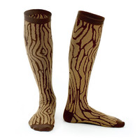 Wood Grain - Oak Knee High