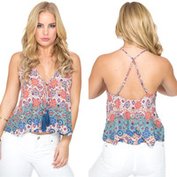 Love Triangle Printed Top