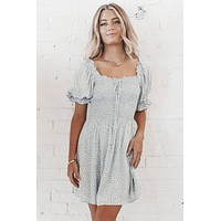 Wild About You Dust Blue Mini Dress