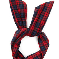FOREVER 21 Plaid Wire Ponytail Holder