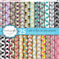 40% OFF SALE 25 honeycomb hexagonal digital paper pack, commercial use, scrapbook papers, instant download - PGPSPK601