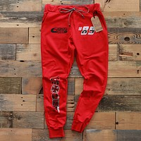 Garage Built Yard Sweat Pants Red