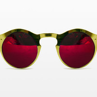 Spitfire BBX in Gold Frame with Red Revo Mirror Lens