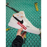 Supreme X Nike Air Force 1 Af1 Just Do It Aq8650-100 Fashion Shoes