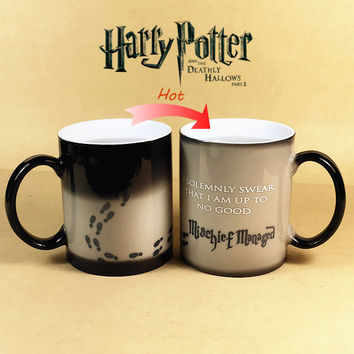 Harry Potter Color Changing Cup Mischief Managed Magic Coffee Mug