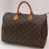 Authentic LOUIS VUITTON MONOGRAM SPEEDY 35 HANDBAG *MB0951 407a