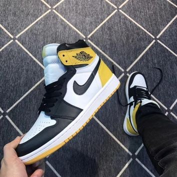 "Air Jordan 1 Retro High OG ""Yellow Ochre"" AJ1 Sneakers - Best Deal Online"