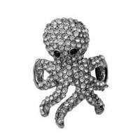 Pave Crystal Octopus Stretch Ring