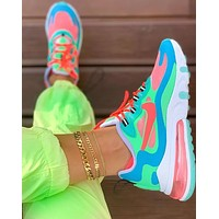 Nike AIR MAX 270 REACT New fashion hook print sports leisure running shoes