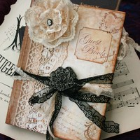 Wedding Guest Book - Vintage Style.. on Luulla