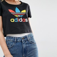 adidas Originals Slim Cropped T-Shirt With Primary Trefoil Logo
