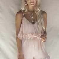 Hilltop Villa Blush Pleated Romper