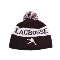 Lacrosse Unlimited Argyle Winter Hat in Maroon and Black | Lacrosse Unlimited
