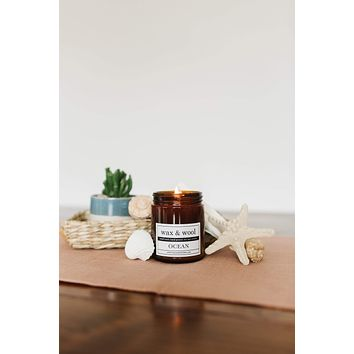 Ocean - 9 oz Pure Soy Wax Candle