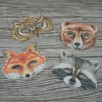 Children's Woodland Creatures Party Masks