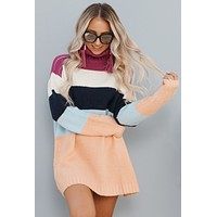 All For Comfort Sweater (Magenta/Peach)