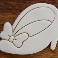 Minnie Mouse Shoe with Bow Cookie Cutter, Selectable sizes, EXTRA STURDY VERSION with additional edge support