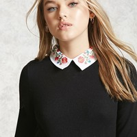 Embroidered Collar Sweater