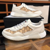 Gucci Man Fashion Casual Shoes Men Fashion Boots fashionable Casual leather Breathable Sneakers Running Shoes Sneakers