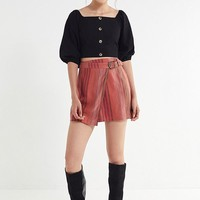 UO Ventura Striped Belted Wrap Skirt   Urban Outfitters