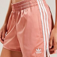 Adidas Summer Popular Women Embroidery Exercise Fitness Gym Running Shorts Pink