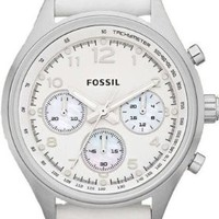 Fossil Flight CH2823 Leather Watch - White
