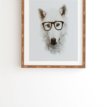 Allyson Johnson Smart Wolf Framed Wall Art