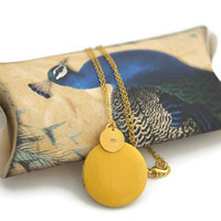 Sunny yellow locket choose from 20  colours handmade in canada gifts for her