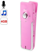 Digital Voice Recorder with Clip + Telephone Recording Adaptor, Support MP3 Player Function, Built-in 4GB Memory