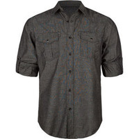 Straight Faded Aston Mens Shirt Charcoal  In Sizes