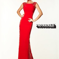 Cap Sleeves With Open Back Jersey Paparazzi Prom Dress By Mori Lee 97029