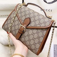 GUCCI New fashion more letter leather chain shoulder bag crossbody bag handbag
