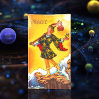 Full English radiant rider wait tarot cards with colorful box