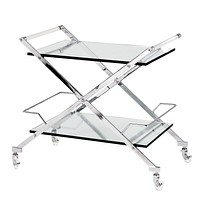 Glass Serving Bar Cart | Eichholtz Loft