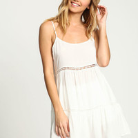 CROCHET TIERED SLIP DRESS