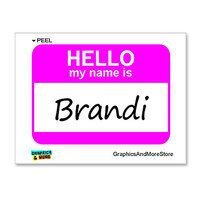 Brandi Hello My Name Is Sticker