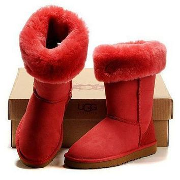 UGG classic wool high boots F Shoes Red