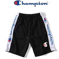 Champion New fashion letter print couple shorts Black