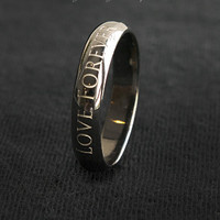 4 mm Black Gold Simple Round Ring