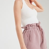 UO Brady Tencel Paperbag Short | Urban Outfitters