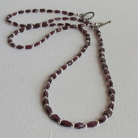 Madagascar Garnets Necklace with Sterling Silver, Statteam