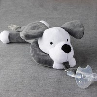 Baby Pacifier Infant Nipple Plush Toys Silicone Soothers Baby Feeding Products Toddler Cuddly Plush Bear Dog Animal Toys Pet D30