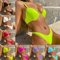 Hard Cup Gathering Bikini New One-piece Underwear Swimsuit