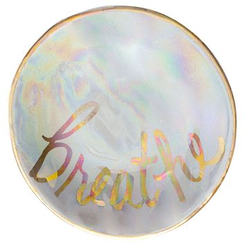 Breathe Iridescent Ring Bowl in Pearl and Gold