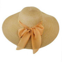 Day At The Country Club Floppy Hat: Tan